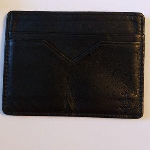 The Original Penguin leather card holder